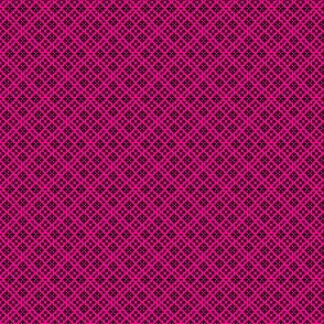 Fair Isle Geometric-Magenta and Black