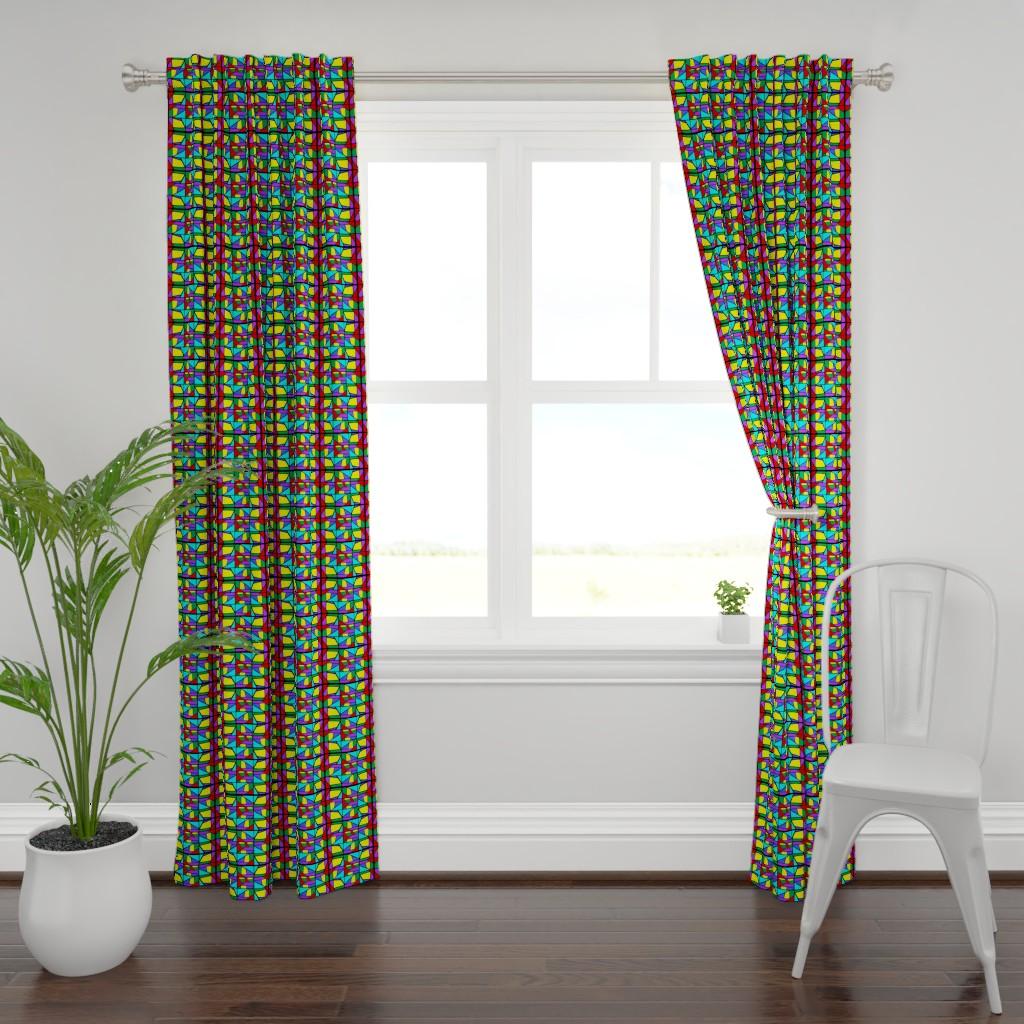 Plymouth Curtain Panel featuring Regatta #2 by bravenewart