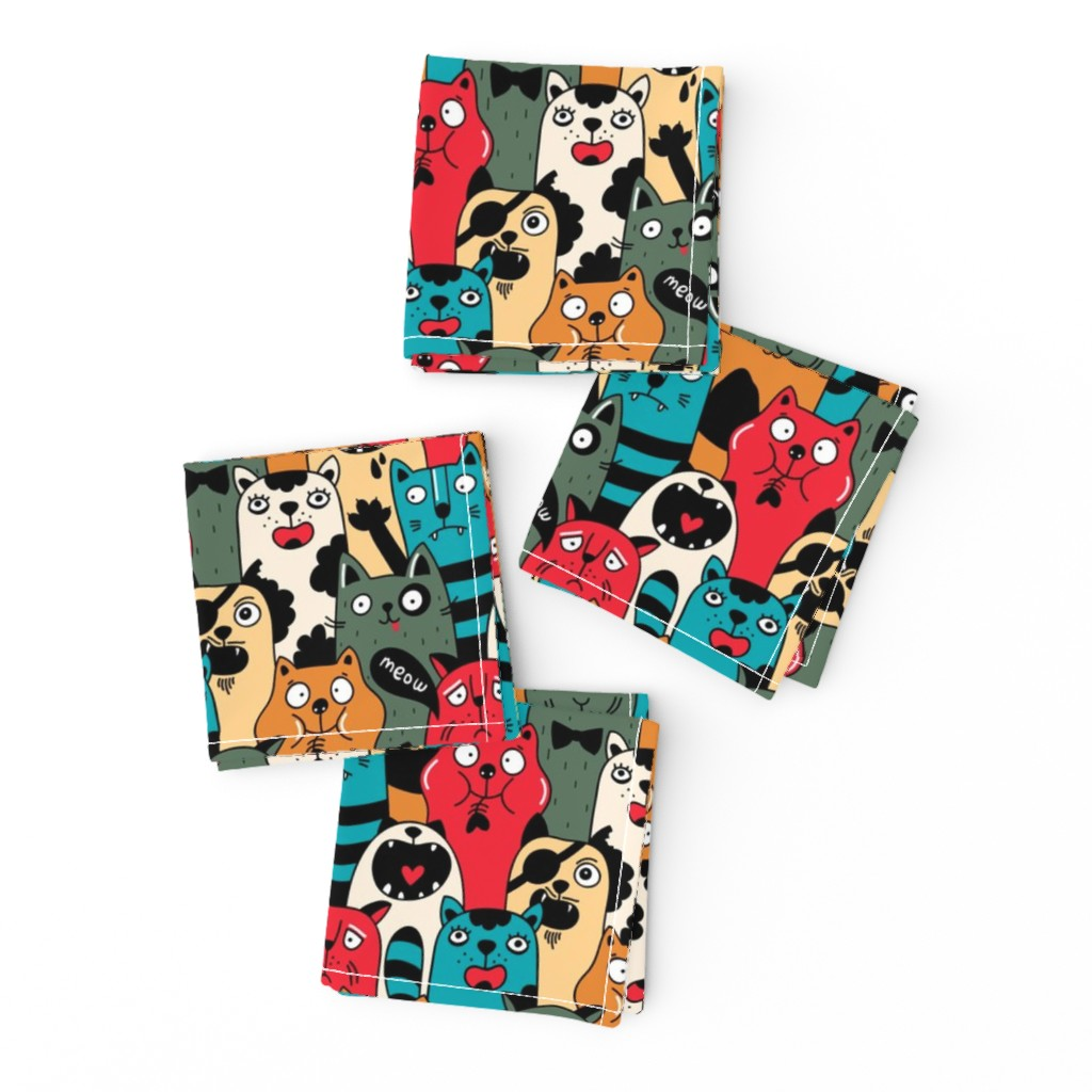 Frizzle Cocktail Napkins featuring Wild crowd by panova