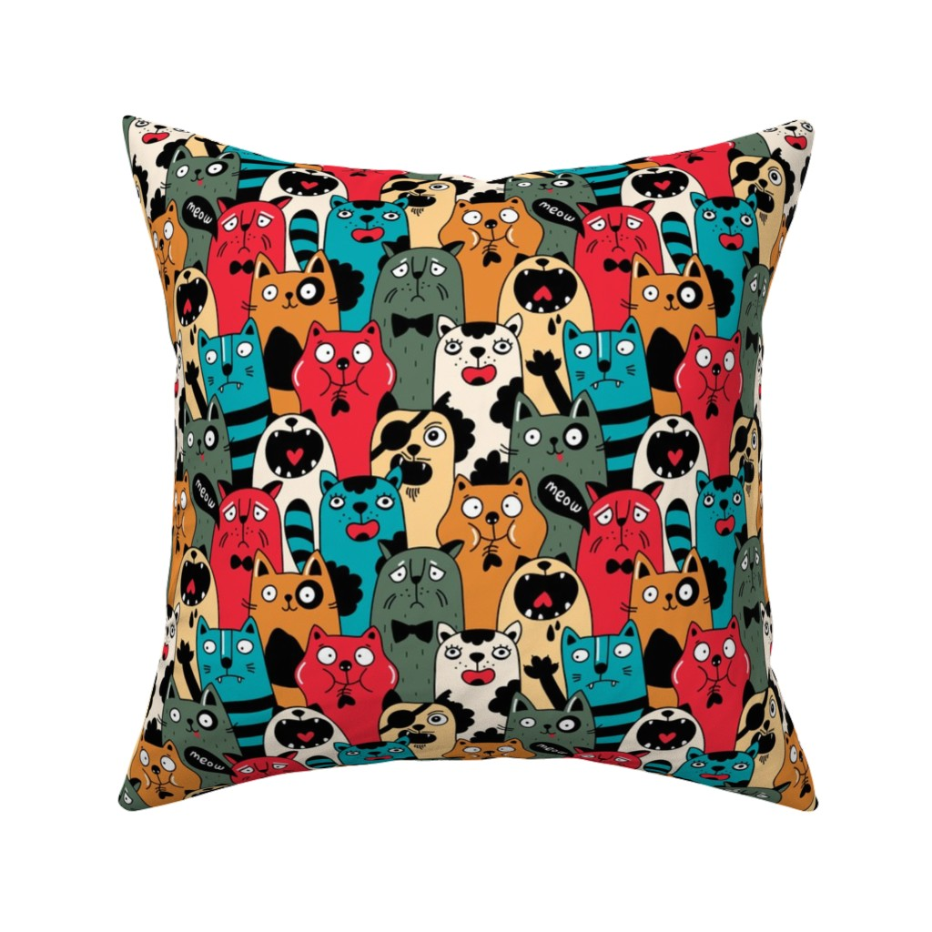 Catalan Throw Pillow featuring Wild crowd by panova