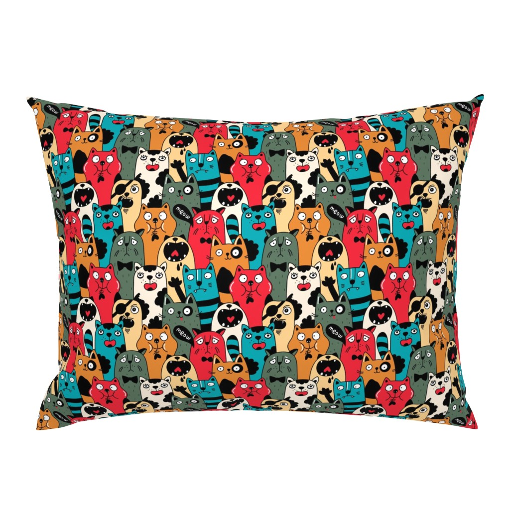 Campine Pillow Sham featuring Wild crowd by panova