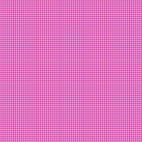 Gingham Small Magenta And White
