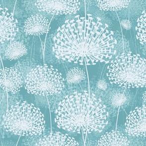 vintage Dandelions pastel blue