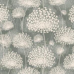 vintage Dandelions gray