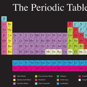 Periodic Table (Dark) - Fat Quarter