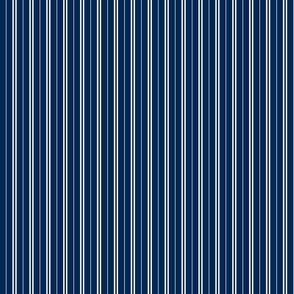 Tie Stripes White On Navy Blue 1:3
