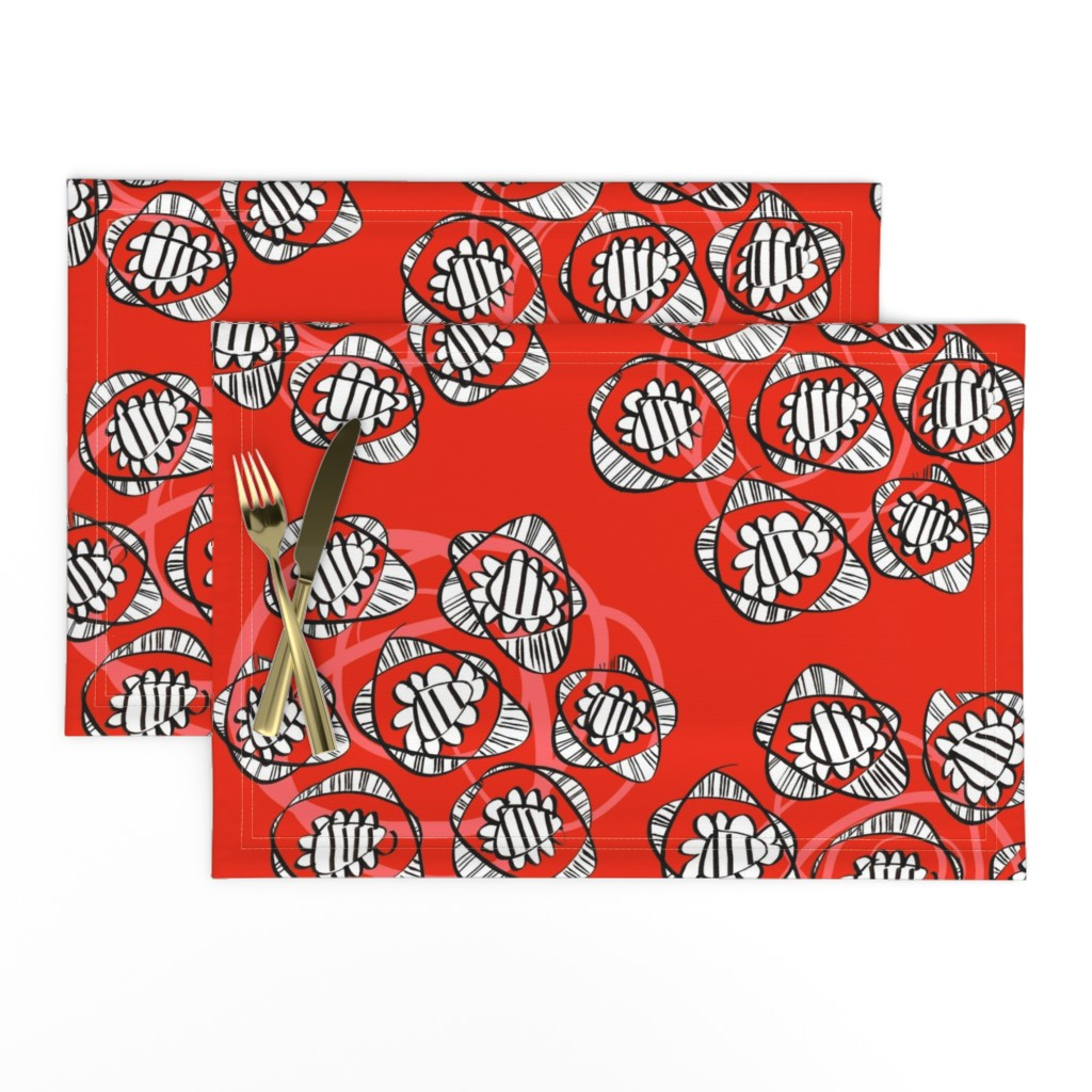 Lamona Cloth Placemats featuring Posies of roses by moirarae
