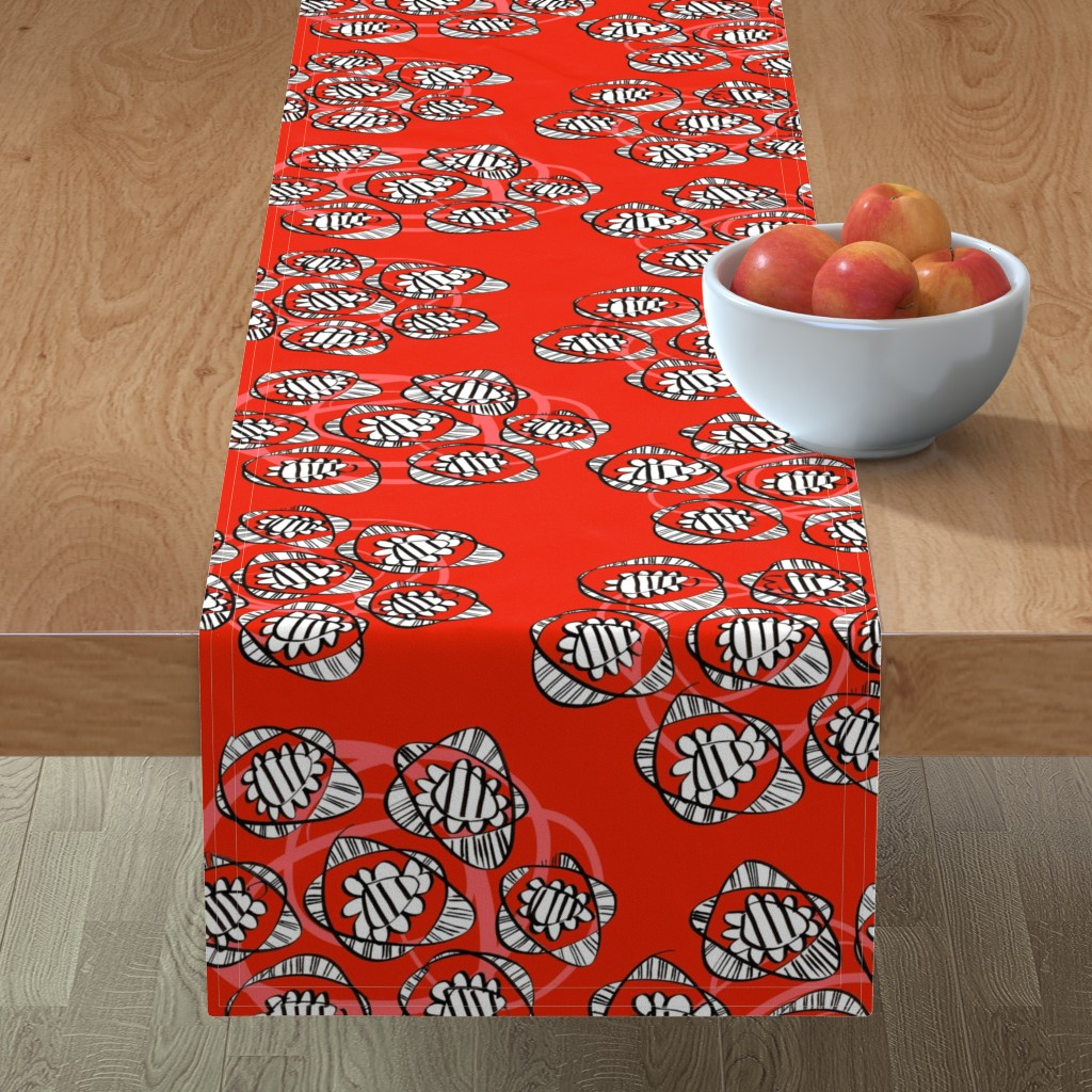 Minorca Table Runner featuring Posies of roses by moirarae