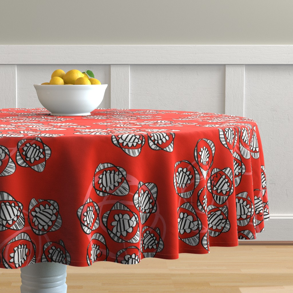 Malay Round Tablecloth featuring Posies of roses by moirarae