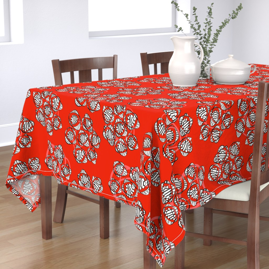Bantam Rectangular Tablecloth featuring Posies of roses by moirarae