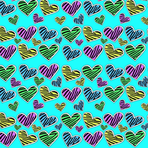 The Zebra Print Heart