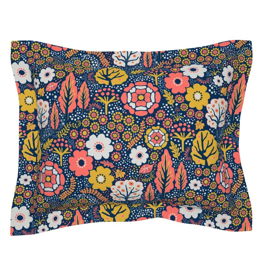 Sebright Pillow Sham featuring Coral Garden 2 by vinpauld