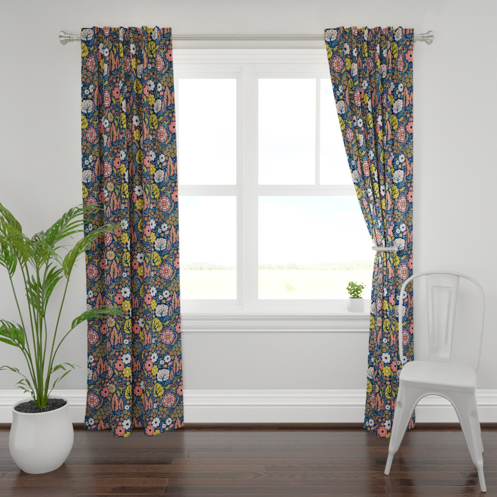 Plymouth Curtain Panel featuring Coral Garden 2 by vinpauld