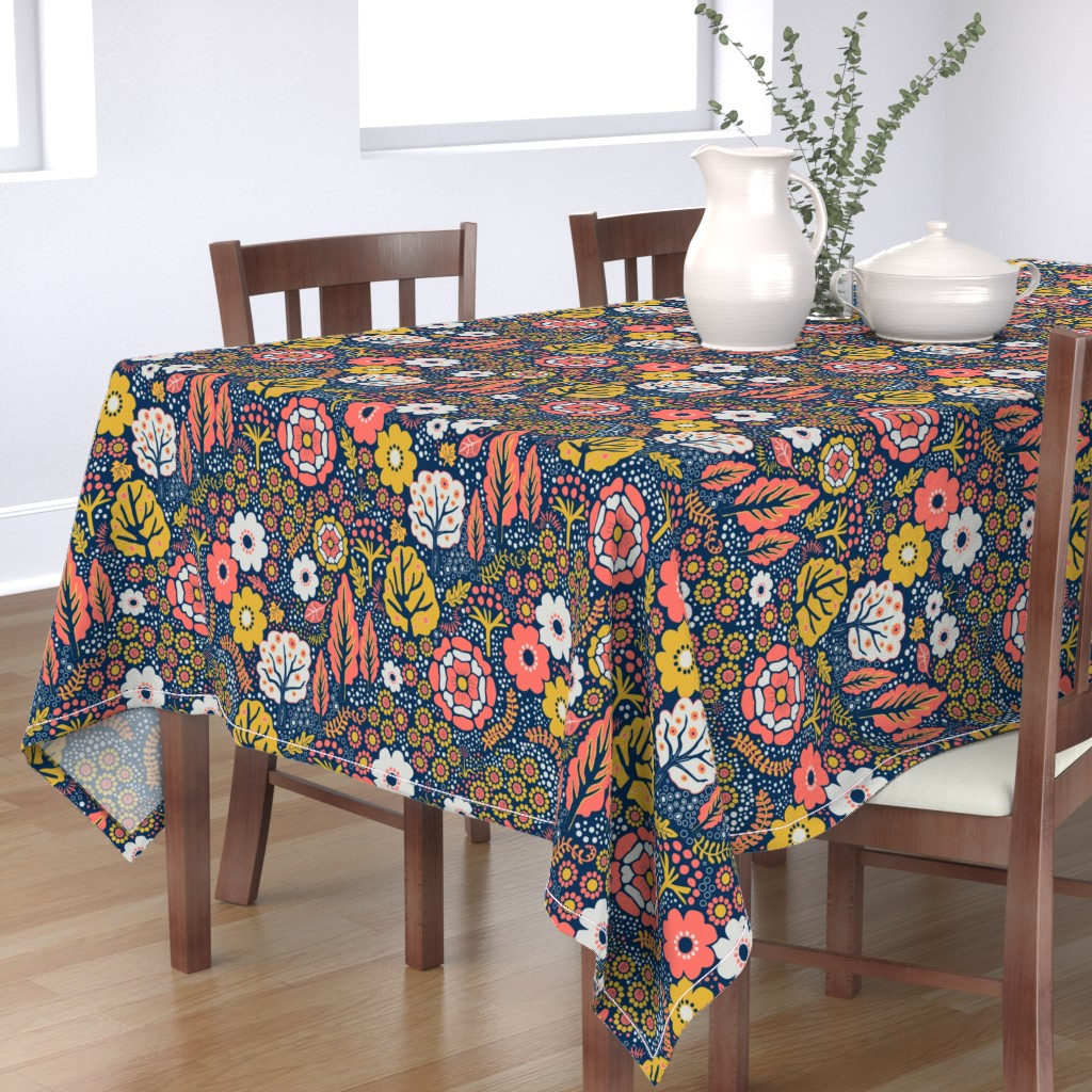 Bantam Rectangular Tablecloth featuring Coral Garden 2 by vinpauld