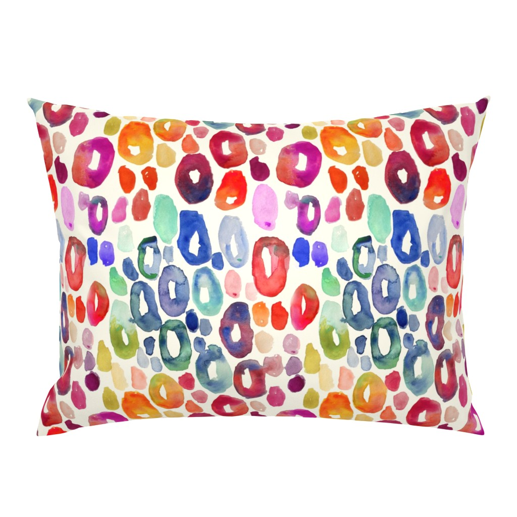 Campine Pillow Sham featuring Rainbow Watercolor Animal Print by theartwerks