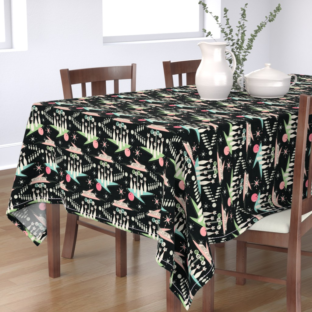 Bantam Rectangular Tablecloth featuring Alley Cats by studioxtine