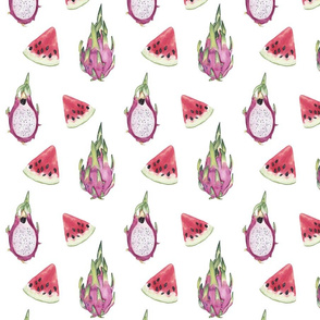 Watercolor Fruits Pattern