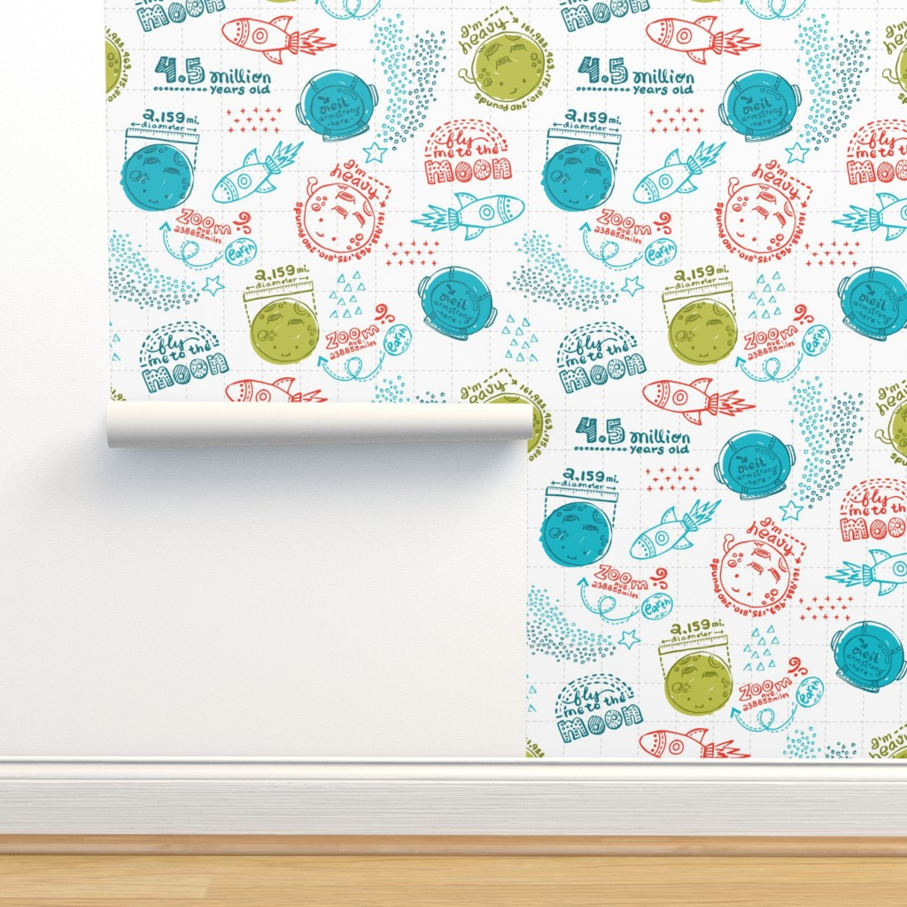 Isobar Durable Wallpaper featuring Moon Fun Facts by oppositedge