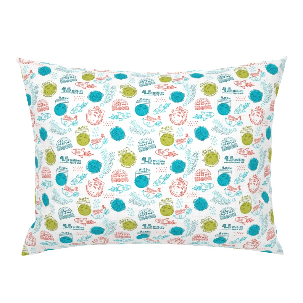 Campine Pillow Sham featuring Moon Fun Facts by oppositedge