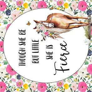 "42"" X 36"" Spring Boho Floral Horse"