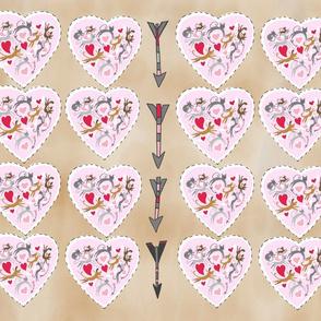 Valentine Heart Pillows x16 choclate background