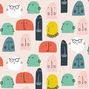 Talking faces abstract people mr Men smaller scale