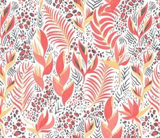 Tropical Animal Print on white