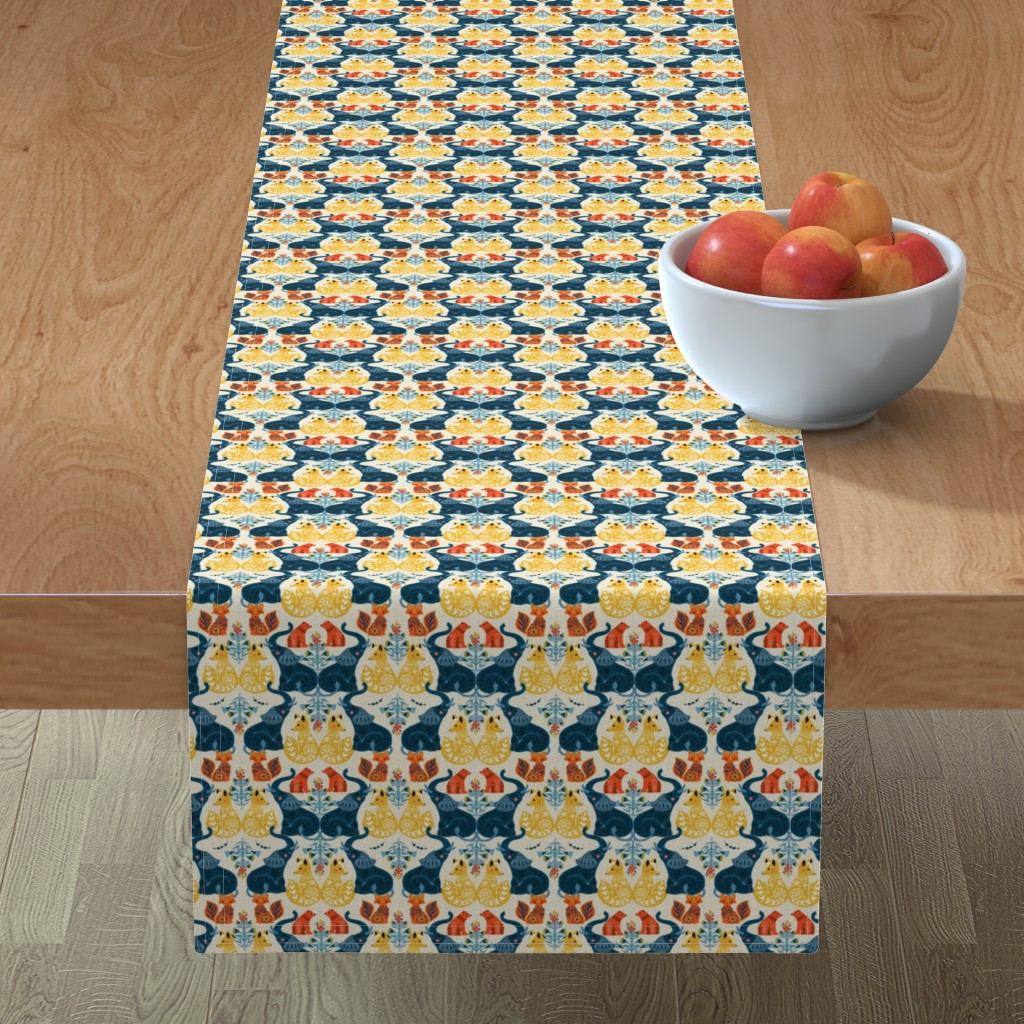 Minorca Table Runner featuring Animal prints by michelle_luu