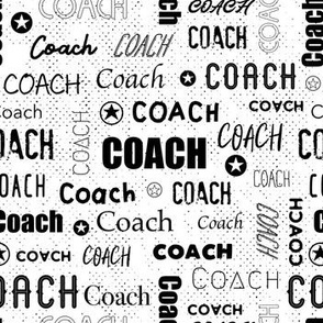 Coach - Sport and Fitness - BW