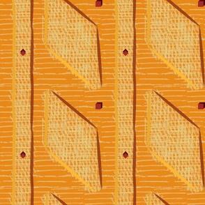 Rhomboid panel texture