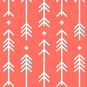 2019 color of the year living coral cross plus arrows