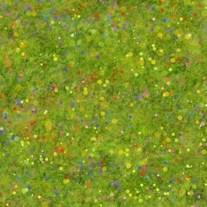 Colourful meadow splatter