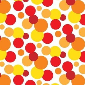 Bold Red, Yellow & Orange Spots Pattern