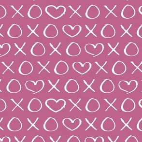 xoxo love hearts hugs and kisses print for lovers wedding and sweet valentine romance lilac purple