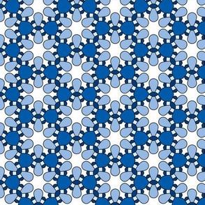 Blue & White Geometric Pattern