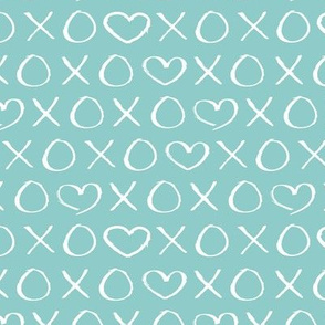 xoxo love hearts hugs and kisses print for lovers wedding and sweet valentine romance cool blue boys