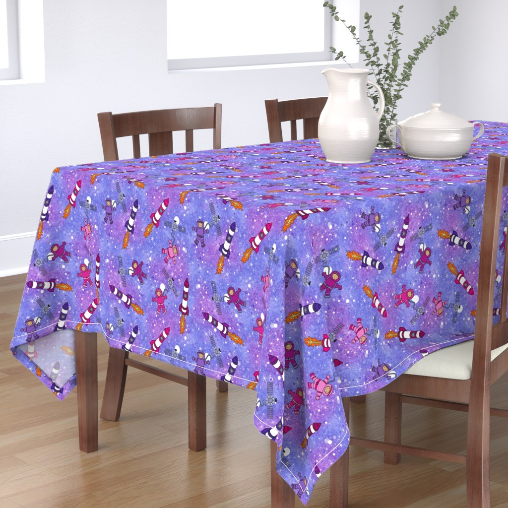 Bantam Rectangular Tablecloth featuring To the Moon and Back by dianewarren