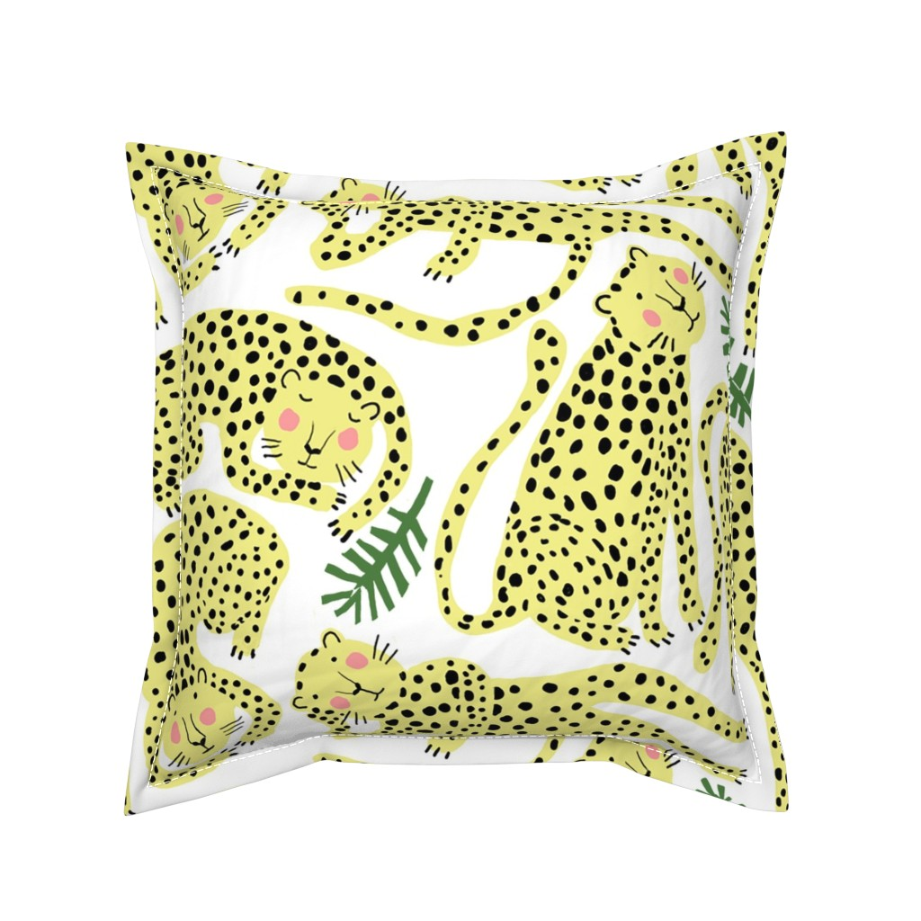 "Serama Throw Pillow featuring CHEETAHS 24"" by nadinewestcott"