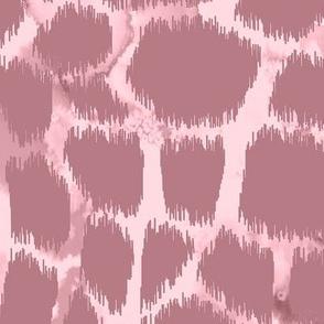 Giraffe skin ikat with watercolor texture