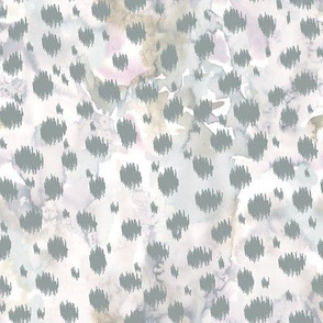 Cheetah skin ikat with watercolor texture / small scale