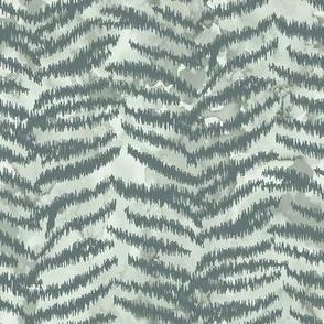 Zebra skin ikat chevron with watercolor texture / small scale