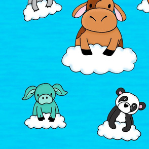 Baby Animals on Clouds