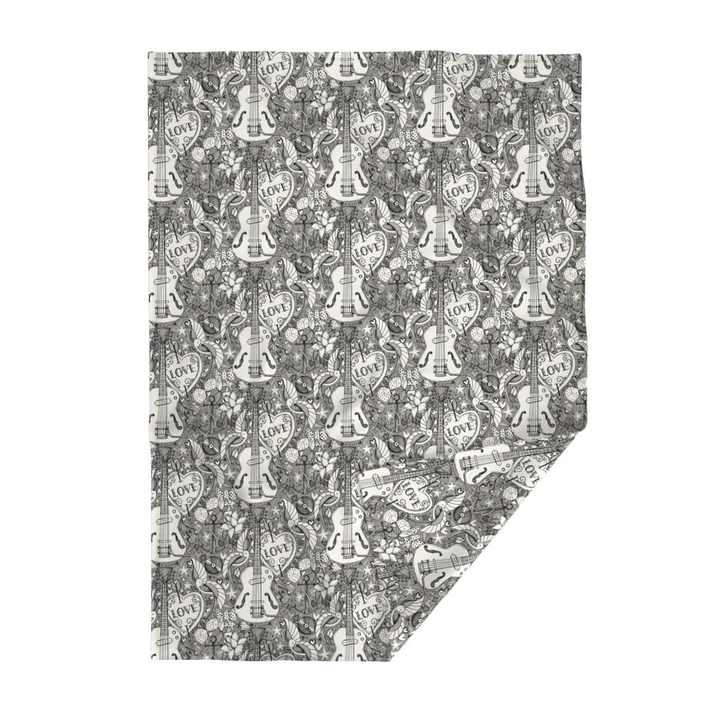 Lakenvelder Throw Blanket featuring rockabilly doodle iron by scrummy