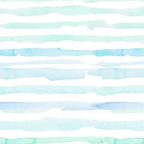 blue watercolor stripes