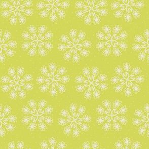 Dots 'n' Daisies on Lemongrass