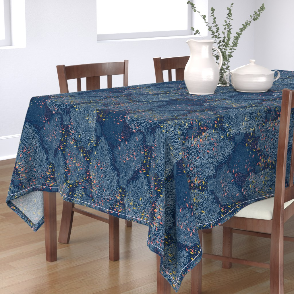 Bantam Rectangular Tablecloth featuring Coral Reef and Small Fishes by y_me_it's_me