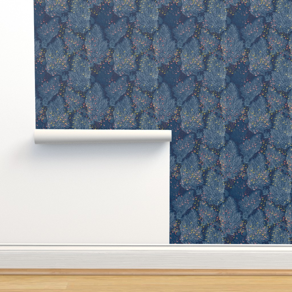 Isobar Durable Wallpaper featuring Coral Reef and Small Fishes by y_me_it's_me