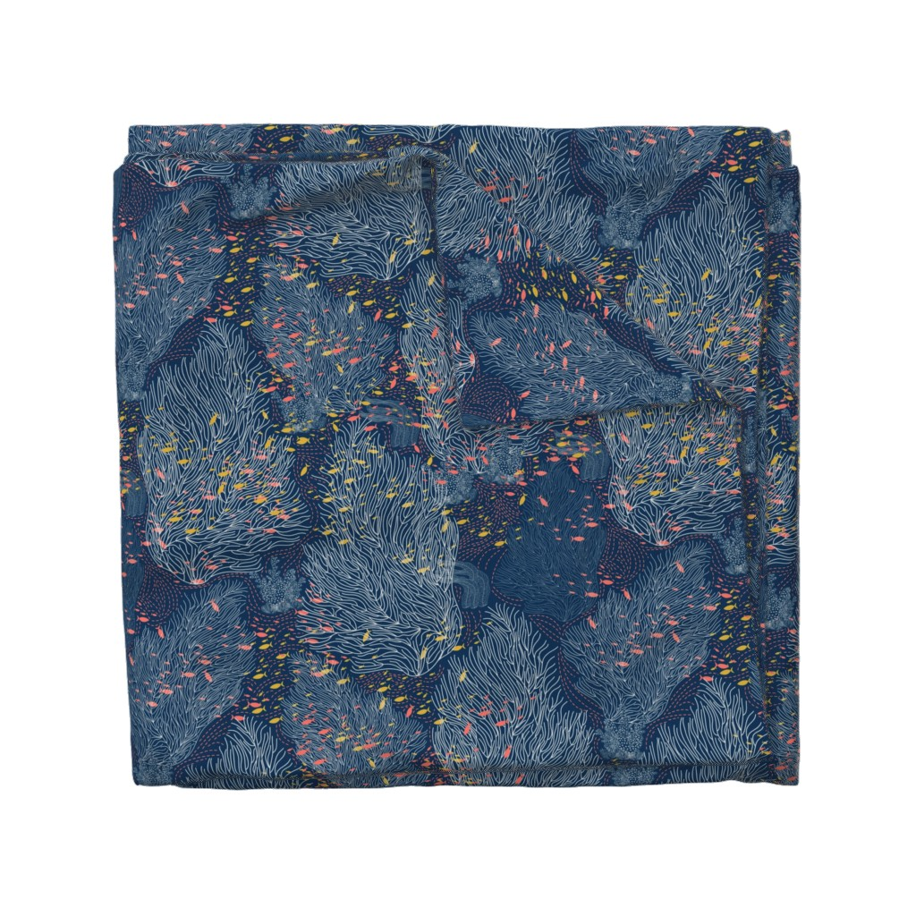 Wyandotte Duvet Cover featuring Coral Reef and Small Fishes by y_me_it's_me