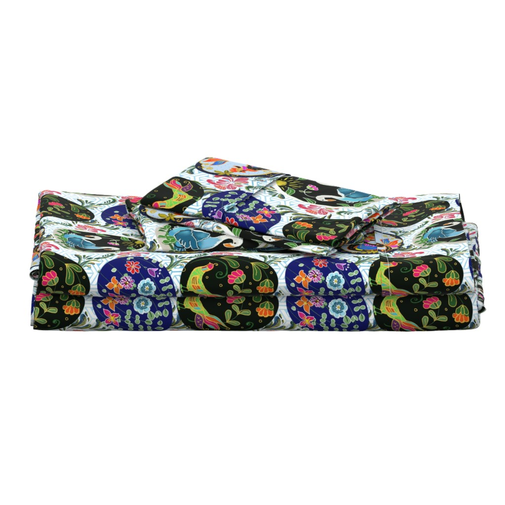 Langshan Full Bed Set featuring Pretty Pysanky by floramoon