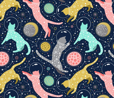 large scale / cats in space